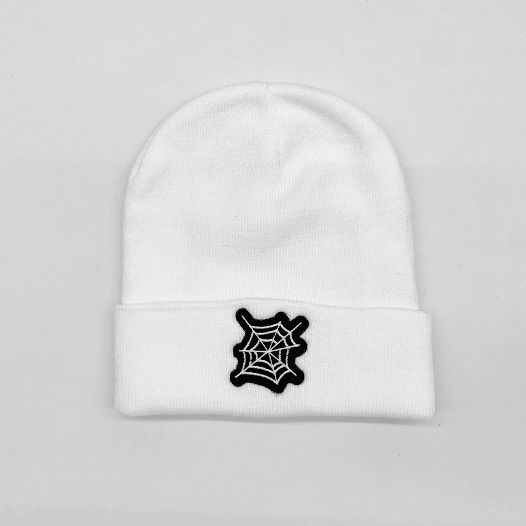 WEB BEANIE HAT WHITE